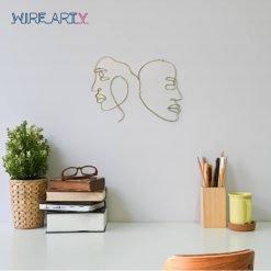 זוג פרצופים אמנותי